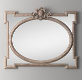 Juliette Horizontal Dresser Mirror - Antique Grey Linen