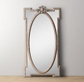 Juliette Leaner Mirror - Antique Grey Linen