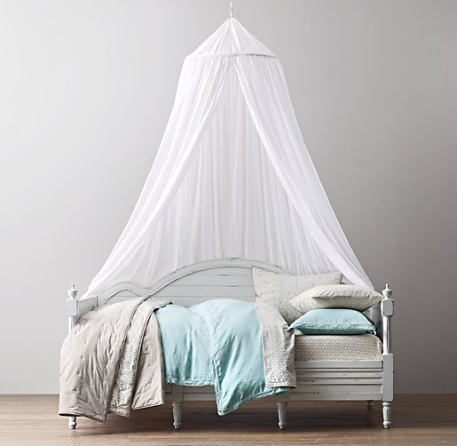 Sheer Cotton Bed Canopy. Click to Zoom