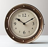 Nautical Brass Clock