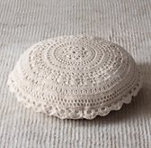 Crocheted Floor Pillow - Oatmeal