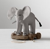 Chambray Pull Toy - Elephant