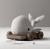 Chambray Pull Toy - Whale