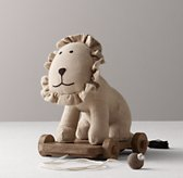 Chambray Pull Toy - Lion