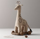Chambray Pull Toy - Giraffe
