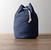 Solid Canvas Hamper - Navy