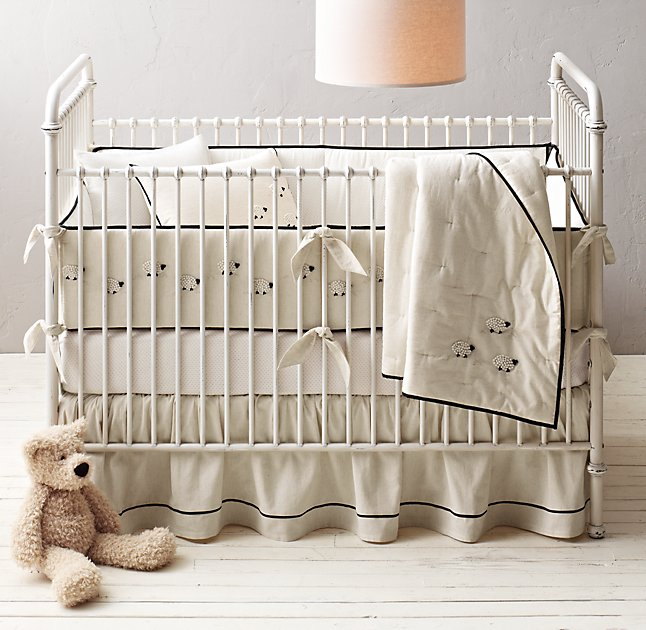 Hand Knotted Sheep Nursery Bedding