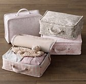 Printed Canvas Suitcases