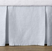 Washed Organic Linen Crib Skirt
