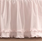 European Vintage-Washed Ruffle Skirt