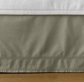 tumble-washed twill skirt
