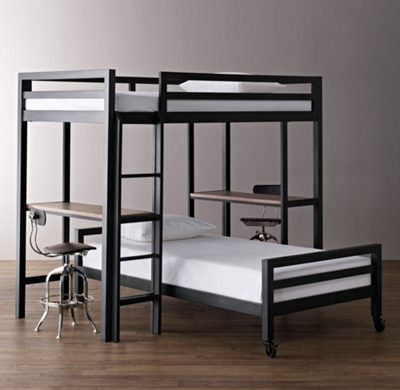 Industrial Loft Study Bunk Bed Collection RH Baby Child