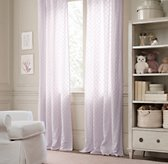 Embroidered Lattice Voile Drapery Panel