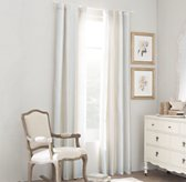 Washed Silk Pavilion Stripe Drapery Panel