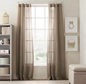 Sheer Belgian Linen Drapery Panel