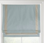 Appliquéd Frame Cotton Canvas Roman Shade