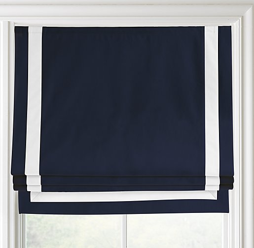 Appliqu 233 D Frame Cotton Canvas Roman Shade