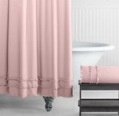Vintage Ruffle Shower Curtain