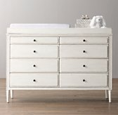 Marcelle Wide Dresser & Topper Set