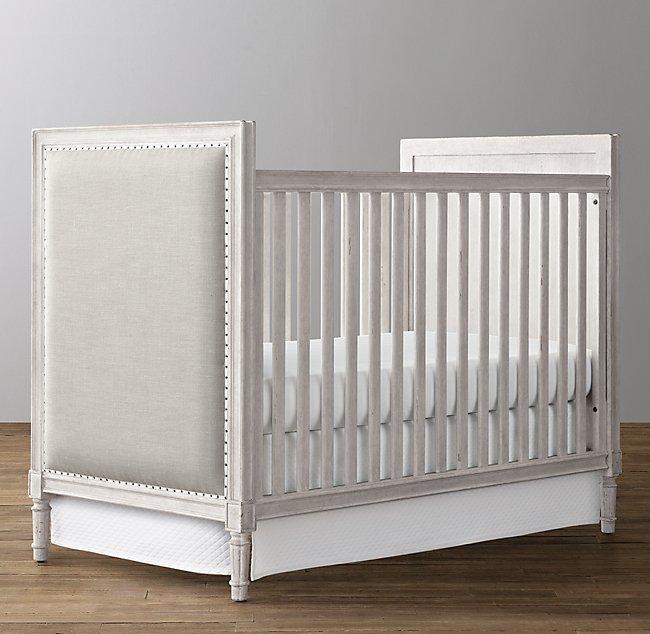 Marcelle Upholstered Crib - Vintage Grey