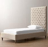 Taryn Tufted Bed - Weathered Oak