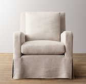 Belgian Slope Arm Swivel Glider With Slipcover