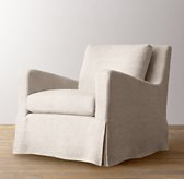 Belgian Slope Arm Slipcovered Swivel Glider
