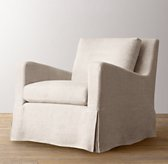 Belgian Slope Arm Swivel Glider Slipcover Only