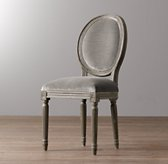 Mini Vintage French Velvet Chair - Burnt Oak