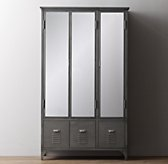 Vintage Locker Mirrored Armoire