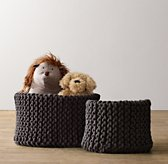 Knit Cotton Storage - Charcoal