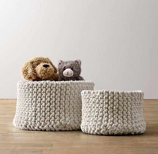 Attractive COLOR PREVIEW UNAVAILABLE. Knit Cotton Storage   Natural