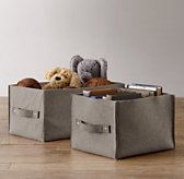 Wool Felt Storage Bin - Grey