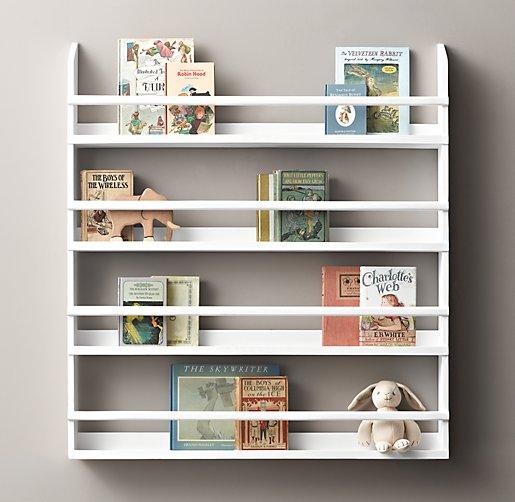 Wood Book Display Shelves Large
