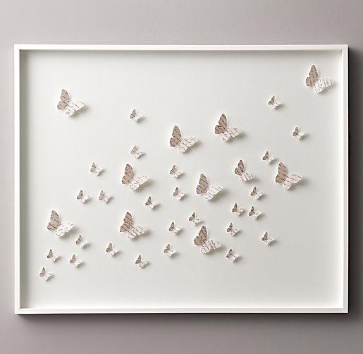 Hand folded paper butterfly art for Paper art butterfly