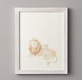Watercolor Animal Illustration - Lions