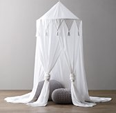 Cotton Voile Play Canopy - White