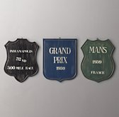 Vintage Raceway Shield - Set of 3