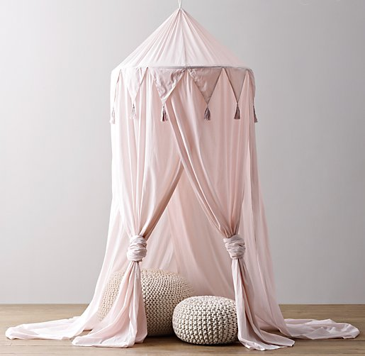 Cotton Voile Play Canopy Petal