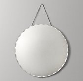 Distressed Wall Mirror - Round