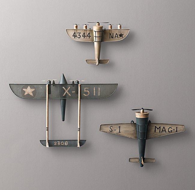 Vintage Model Airplane - Blue