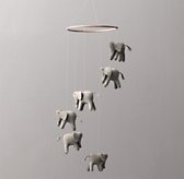 Wool Felt Elephant Mobile