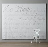 French Script Grand Canvas Wall Tapestry
