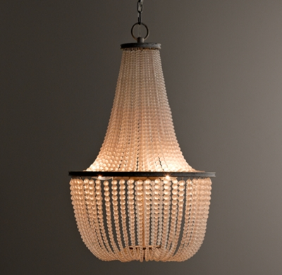 Dauphine frosted glass empire chandelier aloadofball Gallery