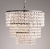 Soho Crystal Large Pendant - Aged Pewter