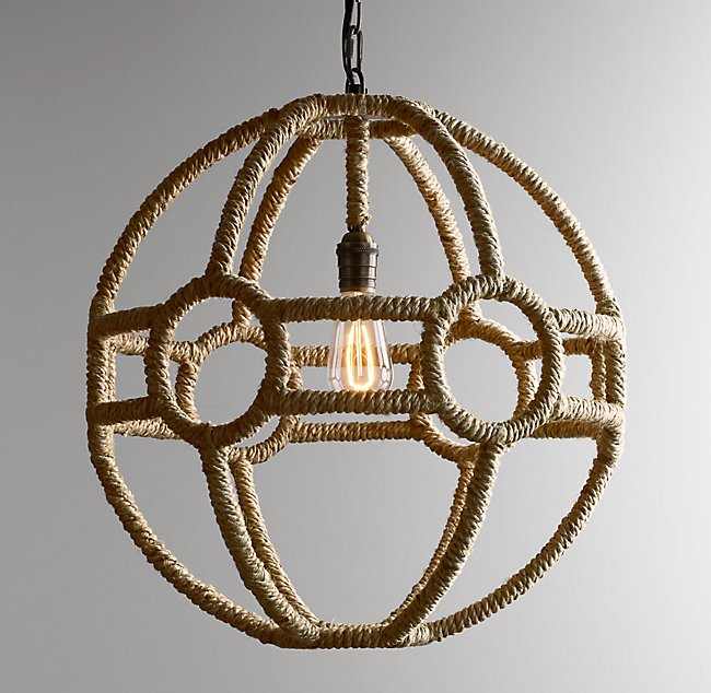 Rope Orb Pendant - Natural