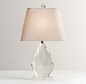 Grand Faceted Crystal Table Lamp Base