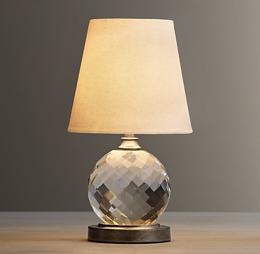lourdes crystal ball table lamp with shade. Black Bedroom Furniture Sets. Home Design Ideas