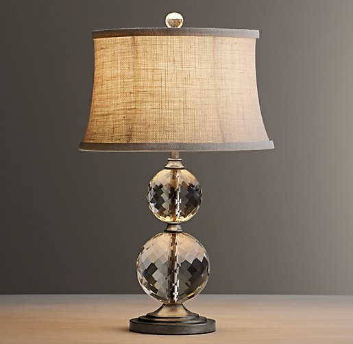 lourdes stacked crystal ball table lamp base. Black Bedroom Furniture Sets. Home Design Ideas