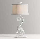 Flora Table Lamp Base - Rustic White